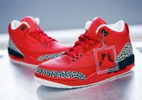 Wholesale Mens Basketball Shoes Low - 2017 Air retro 3 x DJ Khaled Grateful PE Men basketball shoes fire red High quality retro 3s Mens sports shoes Sneakers US8-13