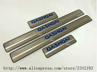 Wholesale Nissan Stainless Steel - For Nissan Qashqai Door Sill Scuff Plate Stainless Steel Welcome Pedal Car Styling For Nissan Qashqai Door Sill 2015 2016 4pcs