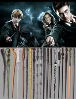 Wholesale Harry Potter Magical Wand Dumbledore Hogwarts Wand Cosplay Wands Hermione Voldemort Magic Wand In Gift Box cm Design DHT19
