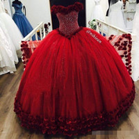 Reference Images Ball Gown Sweetheart Sparkly Beaded Crystal Quinceanera Dresses 2017 Sweetheart Neck Puffy Tull For Sweet 18 Birthday Party Gowns Custom Made Hot Sale