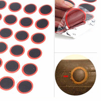 Wholesale Tyre Patch Kit - Hot Selling 48 x 25mm Round High Quality Bicycle Bike Tire Tyre Rubber Patch Piece Repair tools kits for Cycling