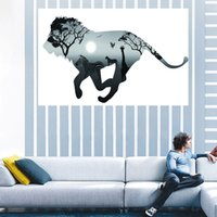 Barato Pinturas Da Arte Do Cavalo-50 * 120Cm HD UV Fantasy Wall Art Prints Ligeiro Spray Pintura Lona Pinturas Unframed Pintura de paisagem abstrata Horse Lion Running Paint