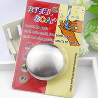 Wholesale Novelty Soap Wholesalers - Stainless Steel Soap Can Be Recycled Remove Fish Onion Smell On Hands Soaps Kitchen Gadget Tool Novelty Completely Odor Remover 4 6dm D