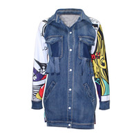 Wholesale Winter Jackets Wind Woman - Wholesale- Bf Wind Autumn And Winter Women Denim Jacket 2017 Fashion Pattern Oversize Loose Female Jeans Coat Solid Slim Chaquetas Mujer