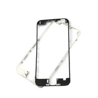 Wholesale iphone middle frame bezel hot glue online - 100pcs DHL New Front Bezel with Liquid Hot Glue LCD Middle Frame Housing Chrome Screen Holder for iphone G S C supporting bracket