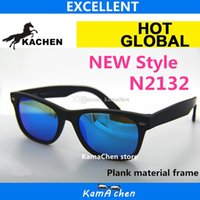 Wholesale Brown Amber Glass Bottles - KaChen 52MM NEW style Plank Gradient Brown Blue Green Bottle black gray Lens UV400 protection amber AAA 1:1 quality sunglasses glasses