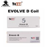 kit de cigarrillos innokin al por mayor-Auténtico Yocan Evolve D Dual Coil para Evolve D Kit Vaporizador Cabezal de repuesto Cigarrillos electrónicos vs Innokin T18 T22 Tank Coil