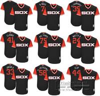 Wholesale Black Red Yoyo - custom name number Men women youth Chicago White Sox Yoan Moncada YoYo Majestic Black 2017 Little League World Series Players Weekend Jersey