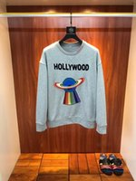 Wholesale Casual Earth Fashion - 2017 New Pullover brand Jackets Man Fashion Men's Hoodies Sweatshirts Mens Casual Cotton Rainbow earth embroidery