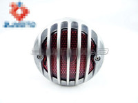 Wholesale Rod Tail Lights - Motorcycle Tail Light DUO Rear Taillights For Old School Bobber Chopper Rat Rod Aluminum Motorcycle Tail Light Brake Light lamp