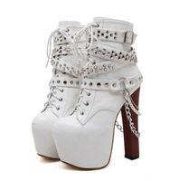 Wholesale ankle bootie shoes - NEW! apricot black cherry blossoms texture platform wooden heel ankle bootie