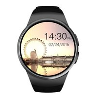 Wholesale smart watch water resistant resale online - Bluetooth Smart Watch inches IPS Round Touch Screen Water Resistant KW18 Smartwatch Phone with SIM Card Slot Sleep Heart Rate Monitor