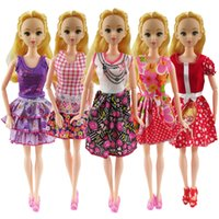 Wholesale Fashion Followers - 5 Pcs Barbie Doll Beautiful Follower Suits Fashion Hanmade Doll Dress Clothes Outfit For Barbie Doll Girls Gift Kid Toys#6