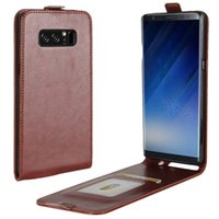 Wholesale Note Flip Back Cover - For Samsung Note 8 Wallet Case Luxury PU Leather Flip Wallet Case Soft TPU Back Cover for Samsung Galaxy Note 8