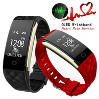 Wholesale S2 Bluetooth - S2 Smart Wristband Bluetooth 4.0 Band Heart Rate Monitor Sport IP67 Waterproof OLED Smartband Bracelet For Android IOS Phone