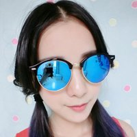 Wholesale anti ultraviolet - New 4246 men's sunglasses fashion trend half-frame sunglasses anti-ultraviolet Dazzle Color sunglasses Sun Shades Glasses Mirror 4246
