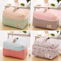 Wholesale Portable Bra Bag - Hot Selling Portable Cosmetic Bag Lingerie Bra Underwear Dot Bags Makeup Organizer Storage Case Travel Toiletry Bag ZB0175 Salebags