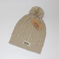 en iyi örme şapkalar toptan satış-Moda klasik dar örme kazak artı topu şapka kadın şapka headdress Avrupa Birleşik Devletleri marka en kaliteli marka