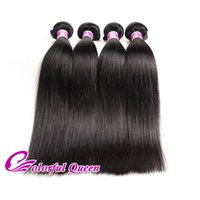 Colorful Queen Cheap Indian Silky Straight Virgin Hair Bundles 4pcs Extensões de cabelo humano Natural Raw Indian Straight Hair Telas 8-26Inches