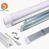 тускло освещенные трубки t8 оптовых-T8 интегрированный 4ft Dimmable led tube 22W 1.2 m Tube Lights SMD2835 2400lm AC85-265V теплый белый / холодный белый оптом 25 шт.