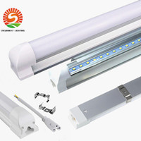 Wholesale dimmable led t8 - T8 Integrated 4ft Dimmable led tube 22W 1.2m Tube Lights SMD2835 2400lm AC85-265V warm white cold white wholesale 25pcs+