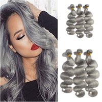 Wholesale Wholesale Virgin Hair For Sale - New Arrive 9A Grade Malaysian Body Wave Grey Hair Weave Silver Gray Body Wave Human Hair Extensions Grey Virgin Hair For Sale