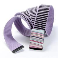Wholesale Rainbow Women Belt - Wholesale- sexy belt 2016 Brand New Ladies fashion rainbow stripe canvas belts women men wide belt female casual joker belt buckle Designer