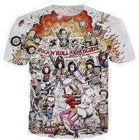 Wholesale N 3d - Newest Fashion Men Women Rock N Roll Highschool Summer Style Funny Unisex 3D Print Casual T-Shirt S---5XL AA700