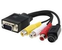 Wholesale rca computers for sale - Group buy VGA SVGA to TV S Video RCA AV Cable Adapter Converter Computer Monitor PC Computer Laptop