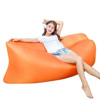 Wholesale Dorp Shipping Beach Portable Sleeping Bag Outdoor Furniture Air Bed Inflatable Hammock Camping Air Sofa High Quality