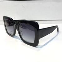 popular sunglasses оптовых-0083 популярные солнцезащитные очки роскошные женщины Марка дизайнер 0083S квадратный летний стиль полный кадр высокое качество УФ-защита смешанный цвет поставляются с коробкой