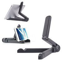 Wholesale Tablet Pc Stand Portable Foldable - Universal Foldable Portable Multi Angle Adjustable Fold-up Stands A-fram Plastic Mounts Holder for Tablet PC Apple iPad,minix ng