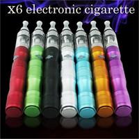 Wholesale Ego Hookah Pens - Wholesale- Hot Cool X6 E Cigarette Kits 1300mah e hookah starter kits e cig ego pen vapor electronic cigarette smoking vaporizer X8106
