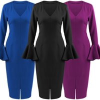 Moda V Neck Bandage Bodycon Dress Cocktail Party Abiti Clubwear S-2XL SR1443