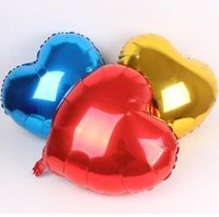 Wholesale Peach Balloons - 10 inch peach heart-shaped aluminum balloon, wedding festival, birthday party, celebration decoration atmosphere, decoration supplies wholes