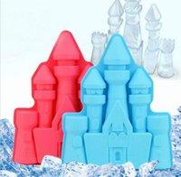 ingrosso cubo di muffa di gelato-Palace Mold Ice Vassoio TPR Ice Cube Strumenti Ice Cream Cake Mould Cooking Tools Vendita calda Estate forniture