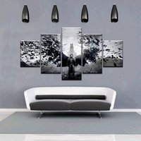 5pcs / set Unframed The Elder Scrolls V-Skyrim Bat et Man Play Affiche Impression sur toile Art mural Peinture pour le décor de salon