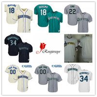 casey james - Men Seattle Mariners Cool Base Gray Casey Fien Blue Dillon Overton Teal Green James Pazos Cream Hisashi Iwakuma White Jerseys