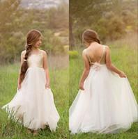 Wholesale wedding dresses for juniors for sale - Group buy 2019 Junior Bridesmaids Dresses For Kids Gold Sequin Flower Girl Dress With Ivory Tulle Floor Length Wedding Girls Christmas Dresses Cheap
