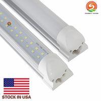 led-streifen weißes rohr großhandel-LED-Röhren 8ft zweireihig R17d FA8 integrierte LED-Röhre 384 LEDs 72W 4ft 8ft LED-Röhre kaltweiß mit Streifenabdeckung