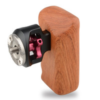 Wholesale CAMVATE DSLR Wooden Handle with M6 thread mount fr Sony Canon Panasonic Camera Cage Rig