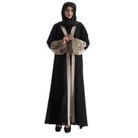 Wholesale Linen Dresses Large - 2017 New Large Abaya Muslim Women Dress Islamic Clothing For Woman Turkey Lady Clothes Turkish Robe Musulmane Diamonds Dresses Dubai