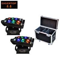 Wholesale Angle Eyes Led - 2IN1 Roadcase Pack LED Moving Head Beam 8 eyes Light 8*10W RGBW LED Spider Moving Head Light,With 3 Degree Beam Angle Scanner