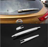nissan klinge groihandel-ABS Chrom-Auto-Styling Heckscheibenwischerarm Klingenschutz Aufkleber Trim Moulding für Nissan Qashqai J11 2014 2015 2016 Zubehör