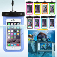 Wholesale Cellphones Water Proof - Waterproof Bag Water Proof Bag armband pouch Case Cover For iphone 7 plus 6s S8 S7all CellPhone S6 Universal water proof cases