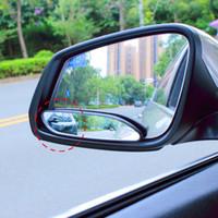 carro de trânsito venda por atacado-Par de espelho de carro de Design longo para o lado cego para segurança de tráfego Vide espelho retrovisor