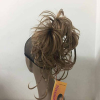 Wholesale curly braiding hair online - beautiful charming hot New cute bendable wire braid Golden Reddish Blonde clamp short ponytail hair pieces