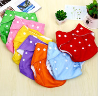 Wholesale cotton cloth diapers - Adjustable Reusable Washable Baby Cloth Diaper Nappy Newborn Cloth Diapers Baby Diapers Cloth or mesh Diaper