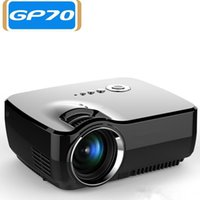 Wholesale hd led laptop - DHL free Mini LED GP70 Projector Support FULL HD P HDMI USB AV SD VGA for Home Theatre PC Laptop Video Games TV Family
