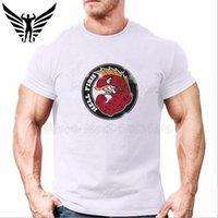 Wholesale Simpson Flash - Muscleguys Brand Hell Fish (Abe Simpson) Mens T-Shirt bodybuilder strong fish fitness men tee shirt gyms clothing